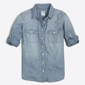 J. Crew Classic Chambray Shirt in Classic Fit
